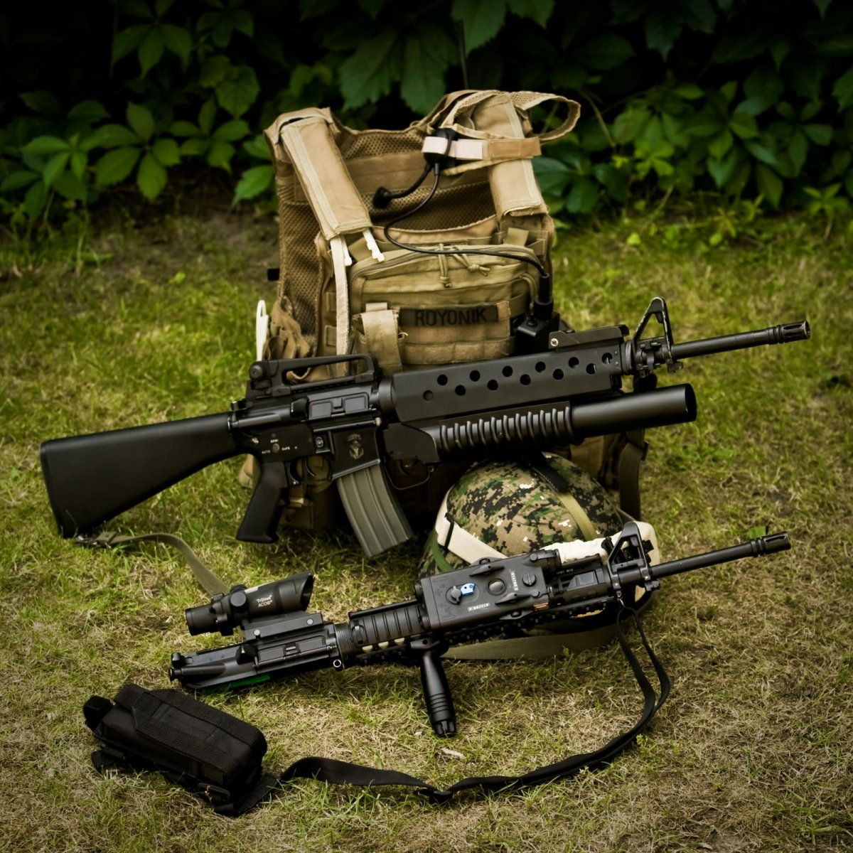 M16A3/M203 w. M16A4 upper - Airsoft Weapon Builds M16a4 M203