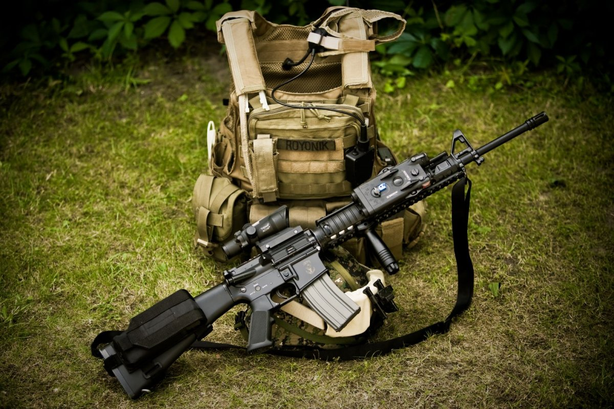 M16A3/M203 w  M16A4 upper - Airsoft Weapon Builds
